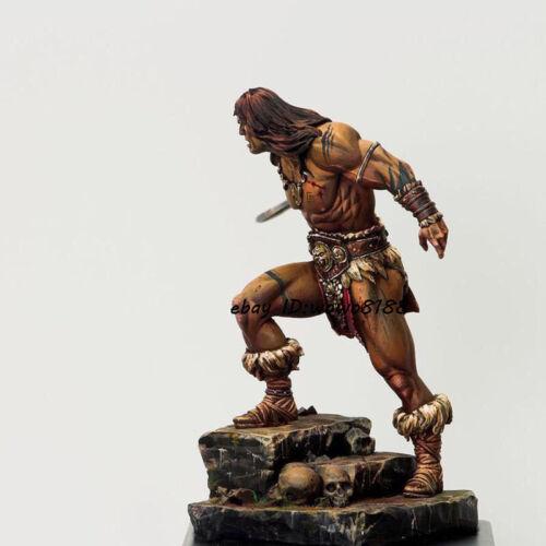 1//24 Scale Resin Kit Figure Model Unpainted Warrior Garage Kit With Pedestal NEW