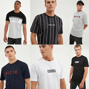 NICCE-Mens-Designer-Crew-Neck-Casual-Cotton-Fashion-Stylish-New-T-Shirt-Tee-Top