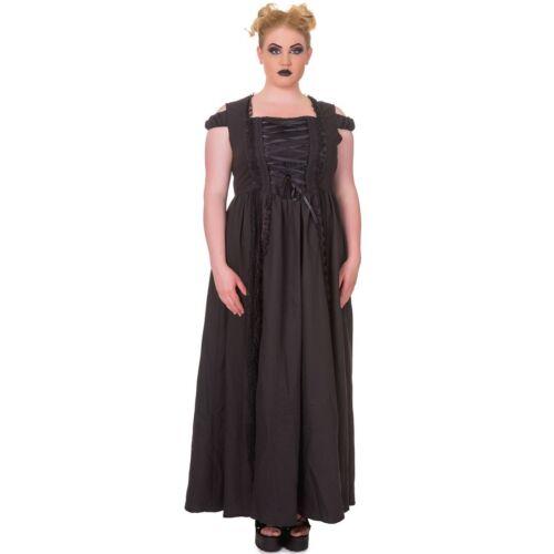 Banned Goth Kleid Maxikleid Steampunk Daysleeper Gothic Victorian Fantasy RRwrqvg