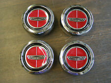 New Repro- Ford Torino Magnum 500 Wheel Center Caps Metal 1971 1972 1973 1974 GT