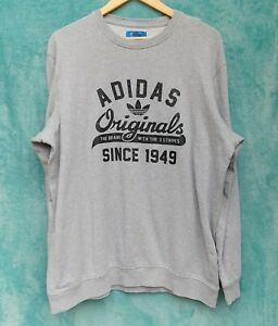 outlet online wholesale price good texture Details about Adidas Mens Sweatshirt L Gray Large Original Logo Comfort Old  School 70s 80s