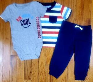 Nwt Baby Boy Clothes 18 Months Carter S 3 Piece Set New Ebay