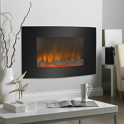 Large 1500W Heat Adjustable Electric Wall Mount & Free Standing Fireplace Heater