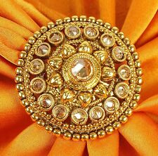 699 Indian Ethnic Traditional 18k Gold Tone Adjustable Ring Bollywood Jewellery