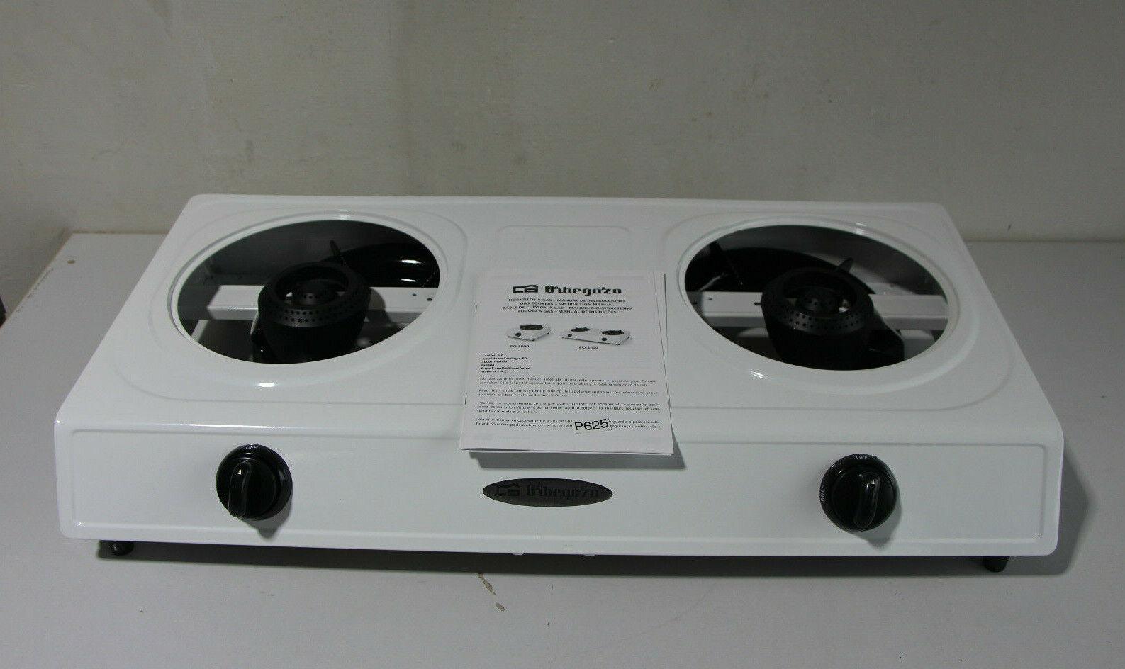 Hornillo Orbegozo f02600, estufa de gas con 2 fuego (p625-r67)