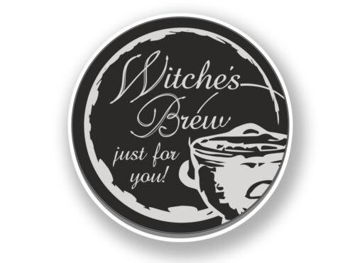 2 x Witches Brew Halloween Vinyl Sticker #7017