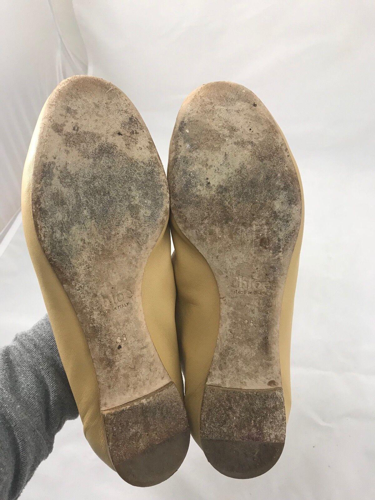Chloe Leather Lauren Lauren Lauren Flats in Natural Size 38 8a9b4a