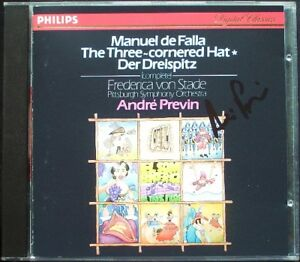 Andre-PREVIN-Signed-FALLA-El-sombrero-de-tres-picos-Danza-FREDERICA-VON-STADE-CD