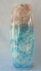 Genuine Italian Art Glass Vase Franco Italy Light Blue and Pink No 488