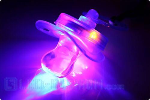 DEL-Tétine blinkschuller Nipple leuchtschnuller DEL transpondeur mardi gras fête