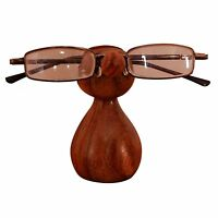 Display Stand Sunglasses Wooden Nose Rack Holders Vintage Hand Carved Free Ship