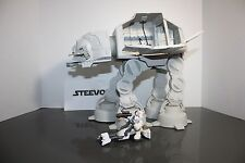 Star Wars Galactic Heroes AT AT Hoth Complete w/ driver and Speeder Origanal