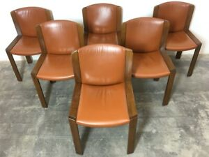 Set 6 Sedie Joe Colombo By Pozzi 1965 Mod 300 Vintage Forniture Chairs Home Ebay