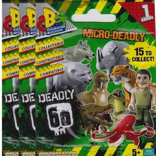 Deadly 60 SERIE 1 da collezione figure Character Building 3 X SACCHETTI Cieco
