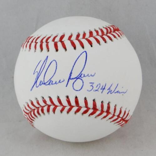 Nolan Ryan Autographed Rawlings OML Baseball w/ 324 Wins - Beckett Auth