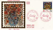 Enveloppe 1er Jour GRASSE 24/11/1984 CALY Fête à Paris CROIX ROUGE   timbrée