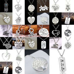 Family Love Friends Gift Heart Pet Tag Adopt Paws Jewelry Charm Pendant Necklace