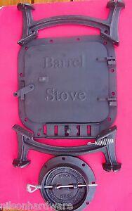 Details about Cast Iron Barrel Stove Kit build your own wood heater  Vogelzang BK100E