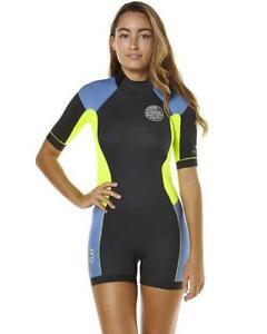 Rip-Curl-DAWN-PATROL-2mm-Short-Sleeve-Womens-Springsuit-Wetsuit-WSP4FW-Blue