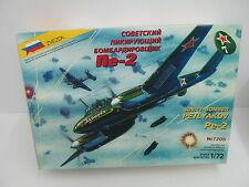 Mes-44862 7205 zvezda 1:72 Petlyakov pe-2 kit abierto,