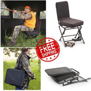 Details About Portable Swivel Hunting Chair Folding Deer Stool Turkey Padded Blind Seat Back