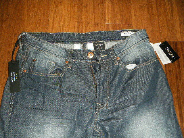 NWT BUFFALO DRIVEN BASIC STRAIGHT blueE JEANS 31 x 32 GENUINELY CONTRASTED