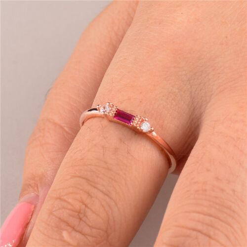 Élégante Anneaux Pour Femmes Anneau Mariage Rose gold filled blanc saphir Taille 6-10
