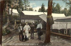 Men Amp Shawmut Bank Camps Silver Lake Nh C1910 Postcard