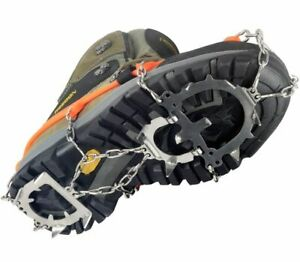 24 Teeth Anti Slip Crampons Ice Grip Snow Shoes Spike Boots Grippers Ice Cleats,