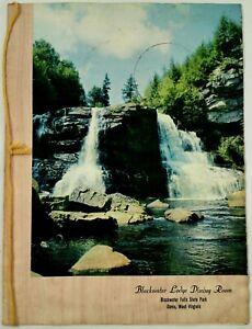 Vintage-Menu-BLACKWATER-LODGE-DINING-ROOM-Falls-State-Park-Davis-W-Virginia