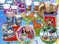 Lego, Icarly, Pferd, Pirat Party Set Kindergeburtstag Teller Becher Servietten