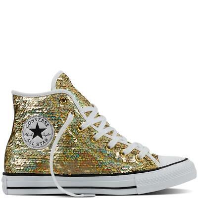 Converse, 553439C, Women's, Chuck Taylor All Star Sequins High, Gold | eBay