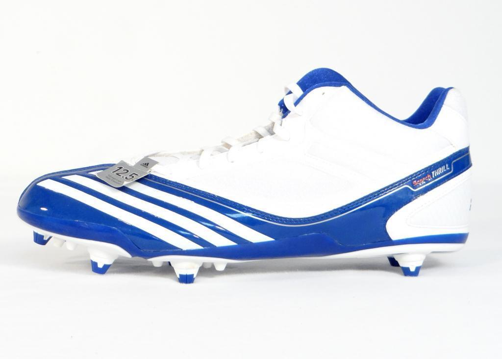 Adidas Scorch Thrill Mid D Weiß & Blau Football Cleats schuhe Mens NWT