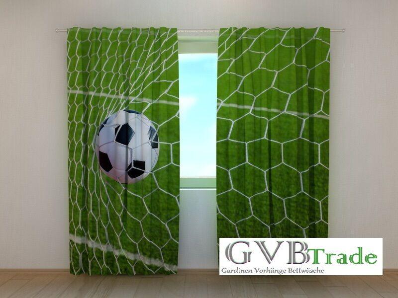 Fotogardinen  Fussball Tor  Fotovorhang Vorhang Vorhang Vorhang Gardinen Qualität, Auf Maß | Starke Hitze- und Abnutzungsbeständigkeit  999fd4