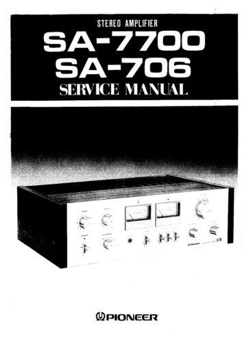 Anleitungen & Schaltbilder SA-7700 Service Manual-Anleitung fr ...