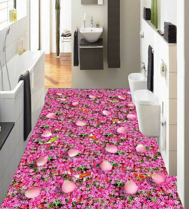 3D flower Farbeful8746 Floor WallPaper Murals Wall Print Decal 5D AJ WALLPAPER