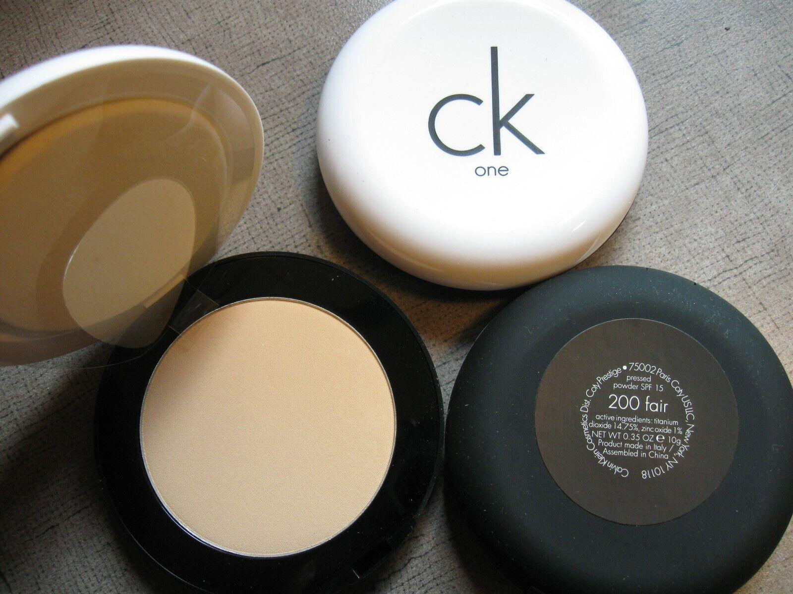 1 - Calvin Klein ck one Pressed Powder SPF 15 200 fair  35 oz
