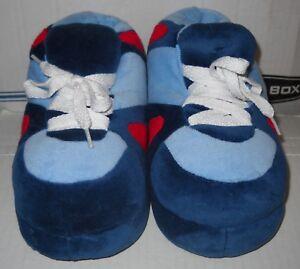 4dcda7aa703e Image is loading Happy-Feet-Slippers-Light-Blue-Dark-Blue-Red-