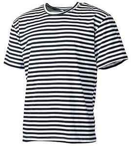 Russisches-Marine-Rundhals-T-Shirt-blau-weiss-gestreift-S-XXXL-halbarm-Shirt