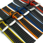 Heavy Ribbed Divers Watch Strap Band Rubber Plastic 18mm 20mm Waterproof Sports