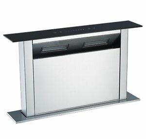 island extractor hoods for kitchens cookology cdd600bk 60cm kitchen island downdraft extractor 7589