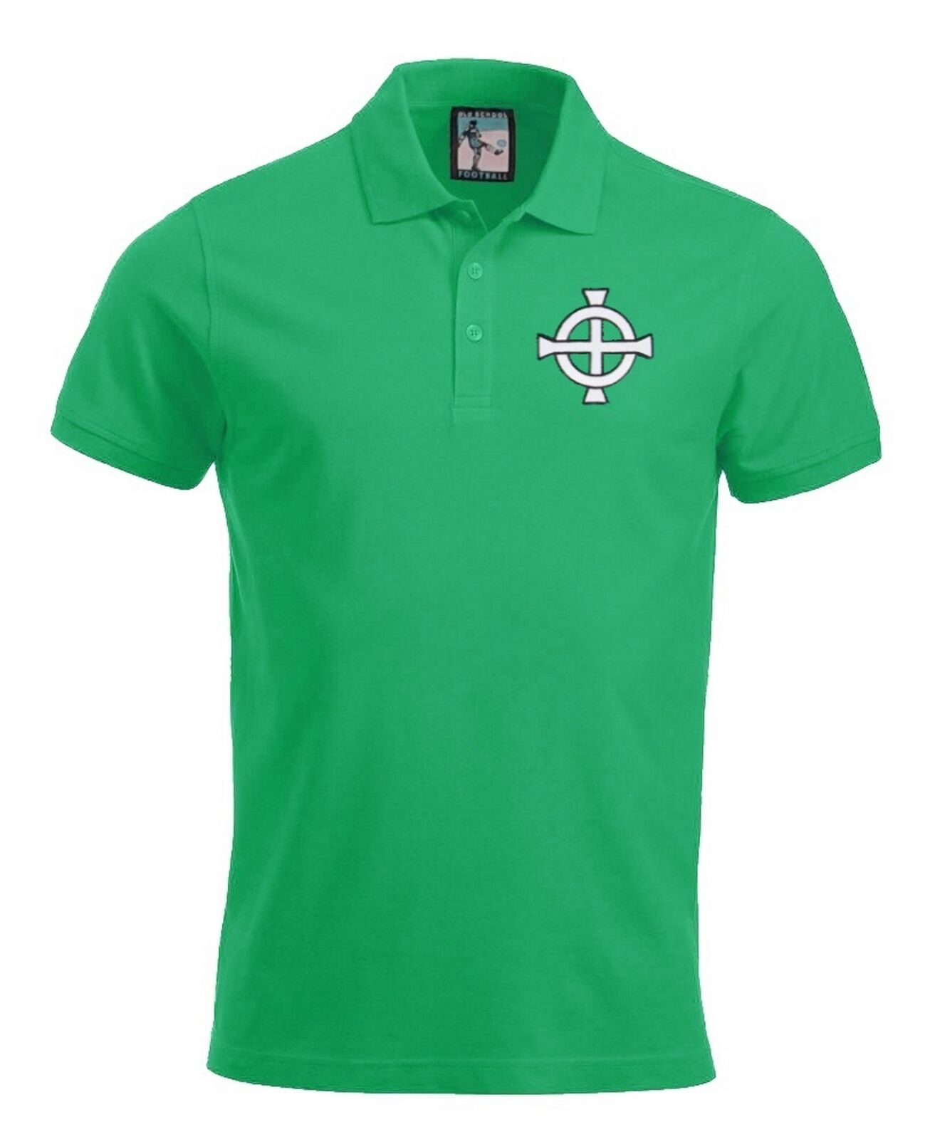 Northern Ireland  1970's Football Polo Sizes S-XXXL Embroidered Logo