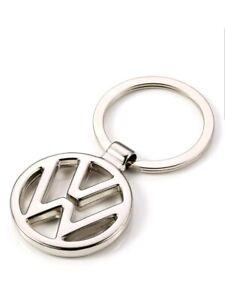 Volkswagen Metal Key Chain Keyring Fob Silver