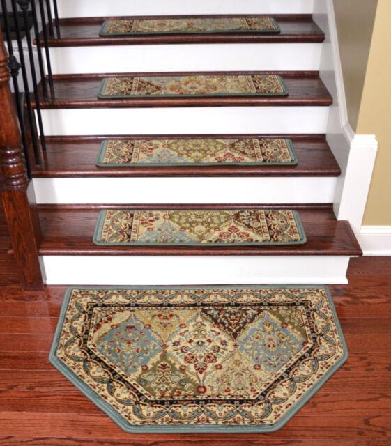 Dean Tape Free Pet Friendly Carpet Stair Treads Panel Cloude W/HearthMat
