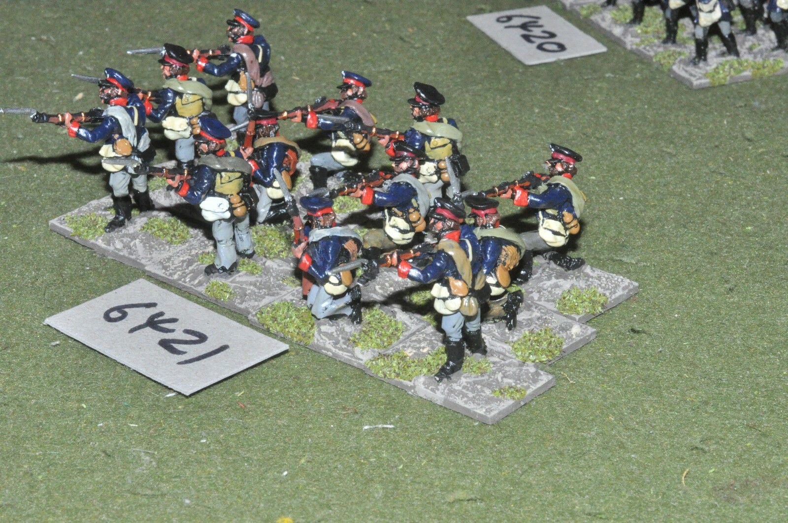 25mm napoleonic   prussian - landwher 12 figs metal painted - inf (6421)