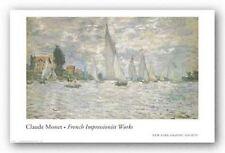 MUSEUM ART PRINT Les Barques Regates a Argenteuil Claude Monet