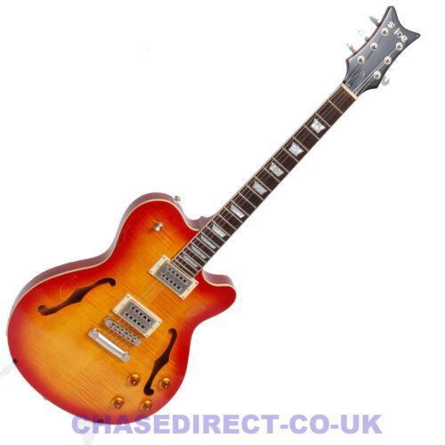 RRP £399 Now £209 Shine Semi Acoustic Electric Guitar SI840 F Hole Cutaway 335