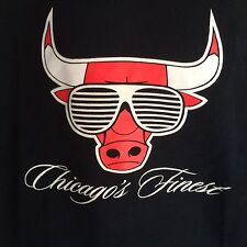 Chicago Bulls Chicago's Finest Men's T-Shirt 2XL Freshnes The Only One Black