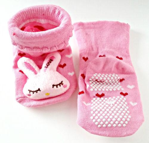 Calcetines del Bebé Antideslizante Suave Algodón Calcetines Novedad 0-6 meses Diseño Hecho a Mano elegir