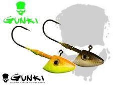 Gunki G Bump Soft Plastic Bait Fishing Lures SET Shad Paddle Tail Grub Jig Head